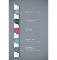 Paper numbered banners vector image vector image