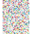 pattern with colorful dots vector image