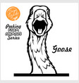 peeking goose - cheerful goose out - face vector image vector image