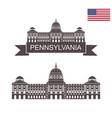 pennsylvania vector image vector image