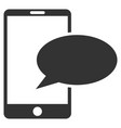 phone message flat icon vector image vector image
