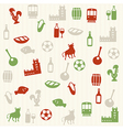 Portuguese seamless pattern vector image