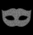 privacy mask halftone icon vector image