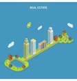 Real estate online searching isometric concept vector image