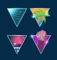 retro symbol logo graphic style vector image