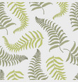seamles vintage tropical pattern with leaves hand vector image vector image