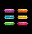 set colorful long crystal horizontal buttons vector image