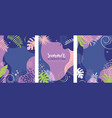 set floral tropic banners vector image