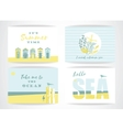 set summer cards with hand-drawing elements vector image vector image