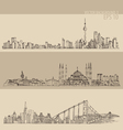 Shanghai Istanbul San Francisco big city vector image vector image