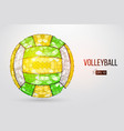 silhouette volleyball ball vector image vector image