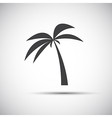 Simple of a palm tree vector image