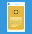 star mobile vertical banner design design vector image vector image