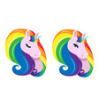 sticker with raibow unicorn vector image