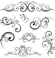 swirling flourishes decorative floral elements vector image vector image