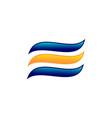 swoosh letter e logo vector image