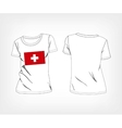 t-shirt with the flag of Switzerland vector image