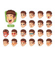 the first set of male facial emotions vector image vector image
