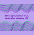 violet green waves waved lines horizontal vector image