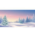 Winter sunrise panoramic vector image vector image