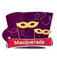 Masquerade concept design vector image
