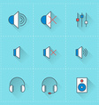 Technology icons icon set in flat design style For vector image