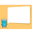 smart phone cartoon with speech bubble vector image