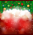 christmas background in red vector image