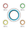 492modern circle infographic vector image vector image