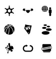 9 grunge icons vector image vector image