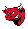 angry bull head mascot in cartoon style vector image