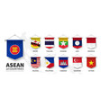 asean association southeast asian nations vector image vector image