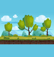 beautiful rural landscape fields trees vector image