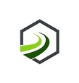 business finance company arrow logo vector image vector image