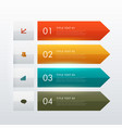 business infographic template with four options vector image vector image