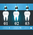 business infographics tooth icon vector image vector image