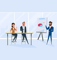 business team brainstorm in meeting room vector image vector image