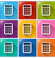 Buttons with calculators vector image vector image