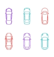 Cars top view icons vector image vector image