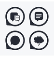 Chat icons Comic speech bubble signs Think vector image vector image