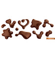 chocolate drops 3d realistic set vector image vector image