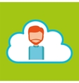 cloud computing character man vector image vector image