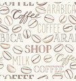 coffee seamless pattern beans vector image