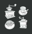 coffee set isolated vector image vector image