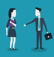 colorful background of meeting businesswoman and vector image vector image