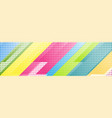 colorful geometric tech abstract banner design vector image vector image