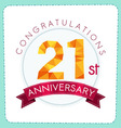 colorful polygonal anniversary logo 3 021 vector image vector image