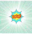 comic boom wording light background vector image vector image
