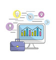 computer to marketing business and technology vector image vector image