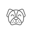dog pet animal line icon vector image